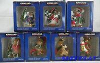 KIRKLAND SIGNATURE CHRISTMAS ORNAMENT Reindeer & Penquin Lot of 7