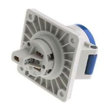 1 x Mennekes IP44 Blue Panel Mount 3P Industrial Power Socket Rated At 16A 230V