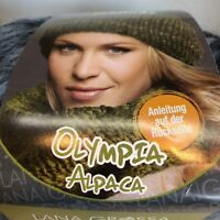 Lana Grossa Olympia Alpaca Yarn Hat Scarf Wool Super Bulky Knit Crochet