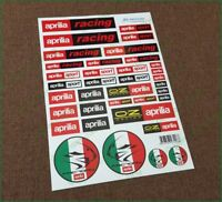 aprilia Racing Motorbike Motorcycle 36 Laminated Decals Sticker Set RSV RS Tuono
