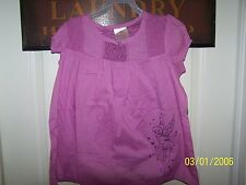 Disney Fairies Tinker Bell Kids Size Medium (7/8) Crochet Trim Woven Top -New