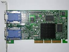 Matrox MGI g 45+ mdha 32 dcpqf AGP-tarjeta gráfica dualhead 4xagp 2xvga 32mb