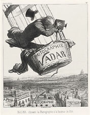 "Honore Daumier Reproductions: ""Nadar at the height of his art"": Fine Art Print"