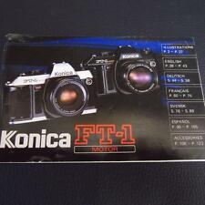 Konica ft-1 Motor Instructions D'utilisation/manuel d'utilisation/Manual (nº 1)
