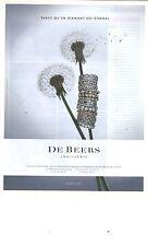 PUBLICITE ADVERTISING 2011  DE BEERS joaillerie diamantaire bijoux