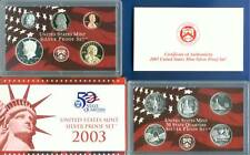 2003 U.S. MINT SILVER PROOF SET - 10 COINS - 90 % Silver