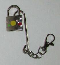 Swiveling Paddle Lock on Hook KEY CHAIN Ring Keychain