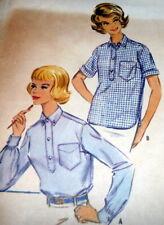 LOVELY VTG 1950s SHIRT McCALLS Sewing Pattern 16/36