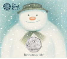 RARE  2018 Snowman 50p Fifty Pence BUNC by Royal Mint Presentation Pack