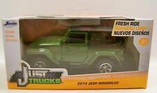 2014 '14 Jeep Wrangler 4X4 Green Just Trucks Diecast 2015 Jada 1:32 Scale