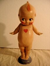 Antique Composition Kewpie Doll with Wings, Top Knot and Googly Eyes. 8833