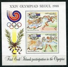 Aitutaki 1988 BF 70 giochi olimpici di Seul mnh