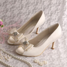 Mid Heel (1.5-3 in.) Peep Toes Bridal Shoes