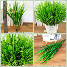Sale 7-fork  Artificial Fake Plastic Green Grass Plant-Flowers-Office-Decor MK