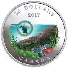 2017 Canada Under Sea - Sea Turtle 1 oz Silver Colorized Proof $20 OGP SKU49122