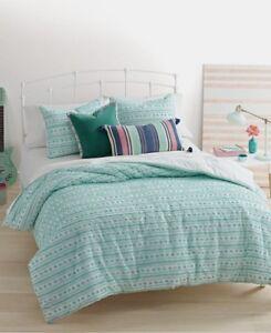 "$80 Martha Stewart Whim Unity 18"" Square Aqua Decorative Pillow"