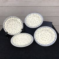 "Williams Sonoma 4 Tournesol Rim Soup Pasta Bowls 9 3/8"" Hand Painted in Italy"