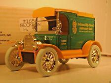 ERTL 1913 FORD MODEL T DELIVERY VAN BANK BECKMAN HIGH DIE CAST COIN LOCKING KEY