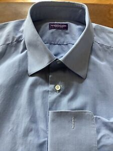 PATRICK HELLMANN Collection 17,5 / 44 Purple Label Hemd made i Italy by Borrelli