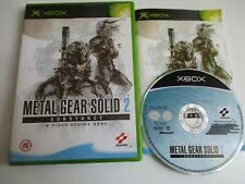 Metal Gear Solid 2 Substance Microsoft Xbox Game Complete FREE UK POSTAGE