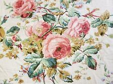 Vtg Ralph Lauren Floral Rose Bouquet Queen Size Comforter Stripe Garden Rambler