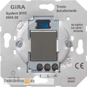 Tronic-Schalt-Einsatz System 2000 086600 Gira Unterputz-Einsatz