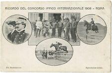 Cavalry Equestrian Competition 1908 Rome Italy Militaria Postcard (A87)