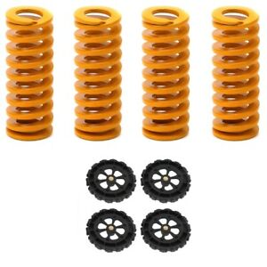 US 4 x Creality Ender 3/5 Pro PLus Upgraded Flat Bed Springs+ 4 x Leveling Nut