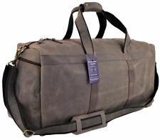"24"" Mens Vintage Genuine Leather Duffel Carry On Luggage Weekend Travel Gym Bag"