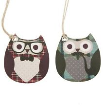 Sass & Belle Shabby Chic Dapper Owl Birthday Gift Tags - 10 pack