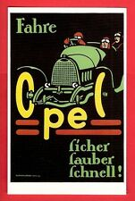 Racing Car Postcard ~ Opel - 1914 German Poster - Safe Clean & Fast - Dalkeith