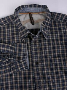 *** Nudie Jeans Shirt Blue Check Size XL *G1115a6