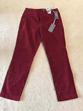 NWT POINSETTIA RED Velveteen ANKLE NYDJ $134 Not Your Daughters Jeans Size 14