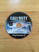 Call of duty: finest hour pour PS2 * disque seulement *