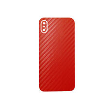 707 Skins BACK Wrap For Apple iPhone X Cover Decal Sticker - RED CARBON