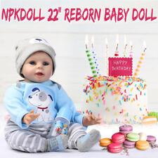 NPKDOLL 22'' 55cm Reborn Bébé Poupée Silicone Fait Main Réaliste Nouveau Née