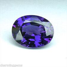 4.30 carats PURPLE SAPPHIRE OVAL VVS LOOSE GEMSTONE JEWELRY ovale saphir violet