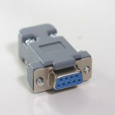 9 Pin Female D-Sub Socket Solder Connector RS232 Serial DB9 and Grey Hood