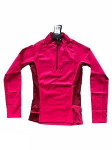 Asics Top Women's Running Essentials Half-Zip Long Sleeve Top - Pink - New