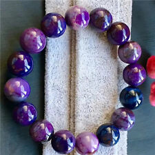 Natural Sugilite South Africa Gemstone Round Beads Woman Bracelet 13mm AAAAA