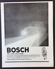Magazine Advert BOSCH HEADLIGHTS Lamps CAR Motor 1961 Full Page VINTAGE