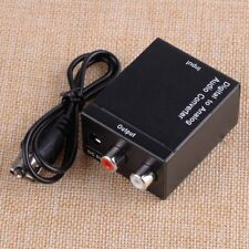 Coaxial Optical Toslink Audio Converter Adapter Digital to Analogue RCA L/R