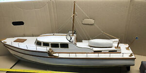 Vintage Wooden Vosper Viking Model 1947 Motor Yacht Built From Kit