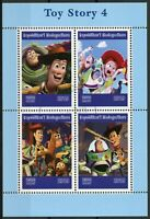 Madagascar 2019 CTO Toy Story 4 Buzz Lightyear 4v M/S Disney Pixar Stamps