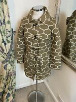 Boden Size 6 brown patterned toggle duffle cotton coat walking hooded autumn.