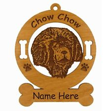 Chow Chow Head #2 Dog Breed Ornament Personalized With Your Dogs Name 2141