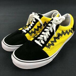 Vans X Peanuts Charlie Brown Good Grief Old Skool Skate Shoes Sneakers Men's 13
