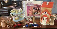 Vintage Tonka 1980s Maple Town Log 7156 Cabin W/ box & Accessories
