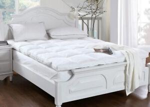 "Mattress Topper 4"" Inch Deep Luxury Soft Hotel Quality Microfiber All Sizes 10cm"