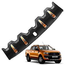 Front Roof Spoiler Cover Black + LED FITT For Ford Ranger T6 Pickup 2015 - 2017